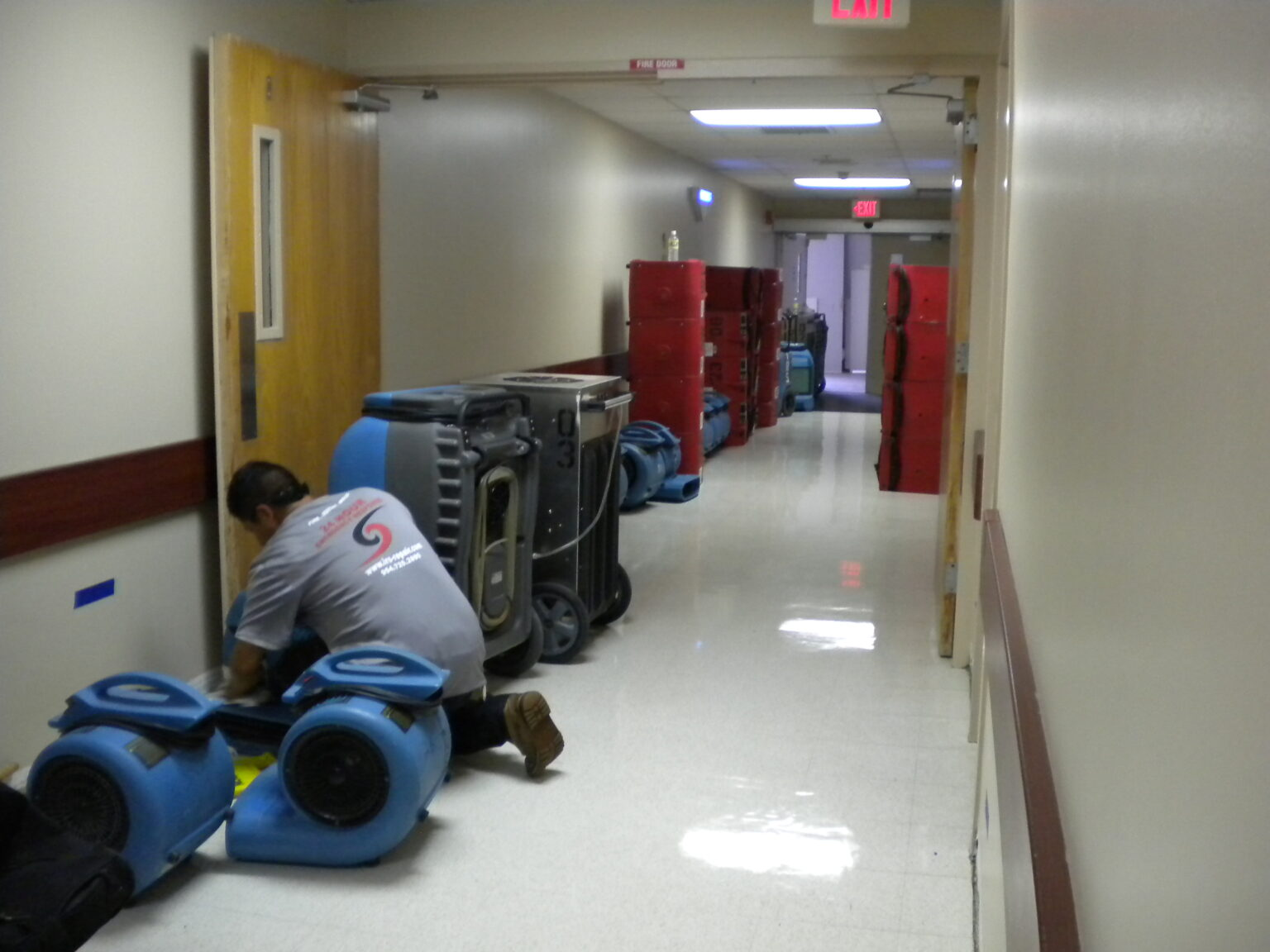 Water damage restoration in a school